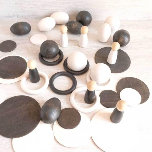 set piezas artesanales de madera
