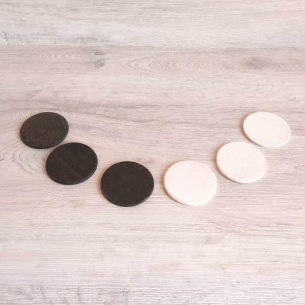 monedas de madera para bebé