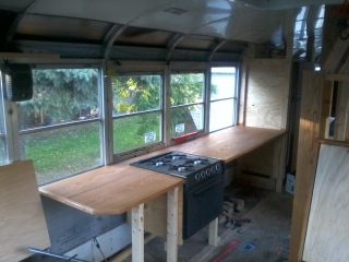 The counter as seen from the captain's chair.