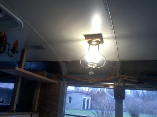 Another view of the LED bulb in action.