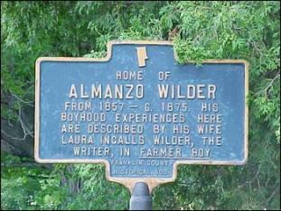 Almanzo WIlder Homestead Historic Marker