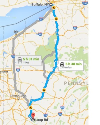 The short trip route.