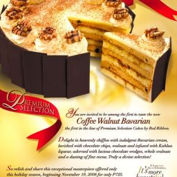 Red Ribbon's Coffee Walnut Bavarian Holiday Cake Tasting
