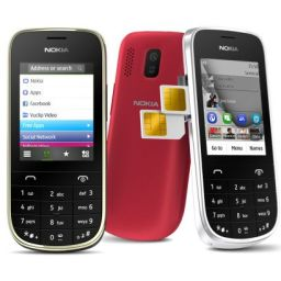 Dual SIM Nokia Asha 202 sells for P3,550.00