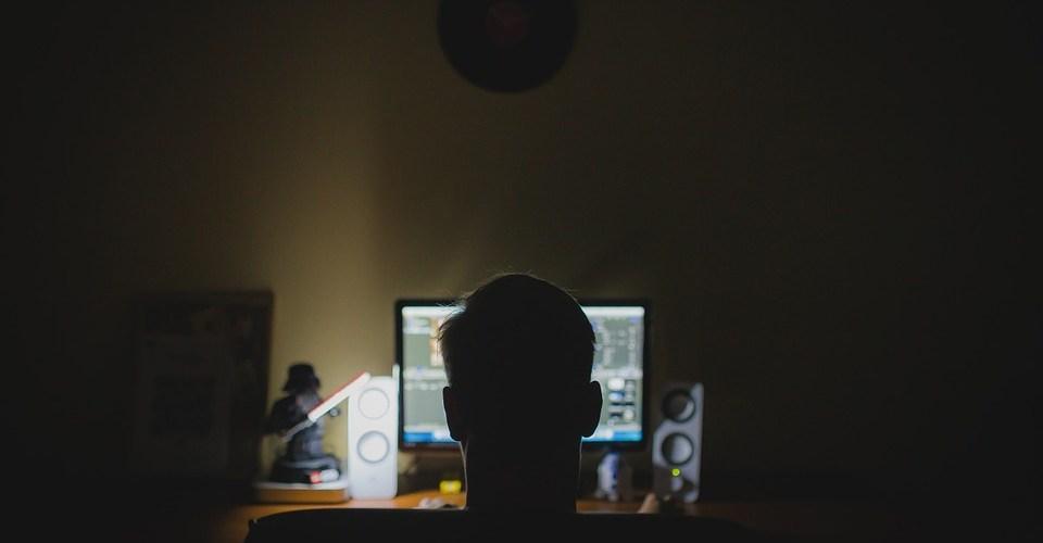 stalking guy on computer