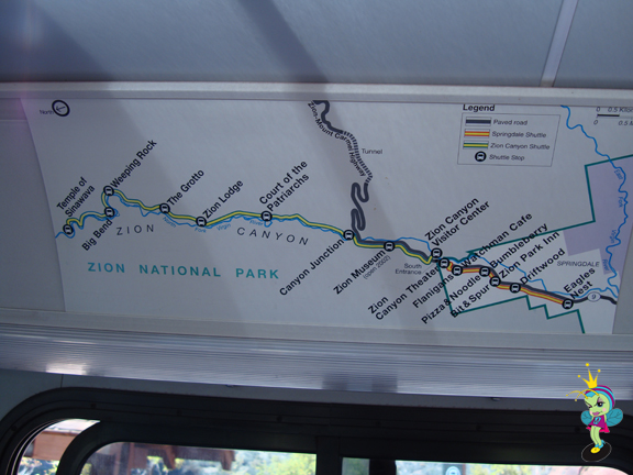 the tram route