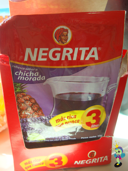 Chicha come in these packets, just add water & citrus. The logo looks kinda like a young Aunt Jemima huh?