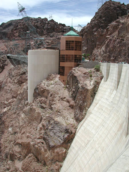 the new entrance & visitor center for the dam