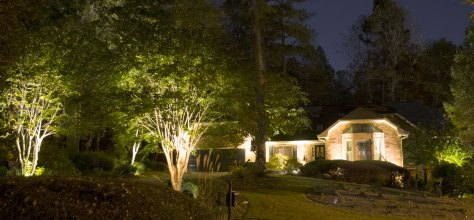 House and up-lights on home in North Metro Atlanta, GA.