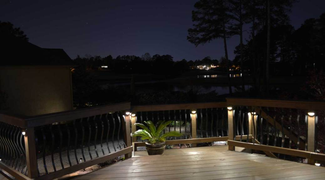 deck post brass metal landscape light
