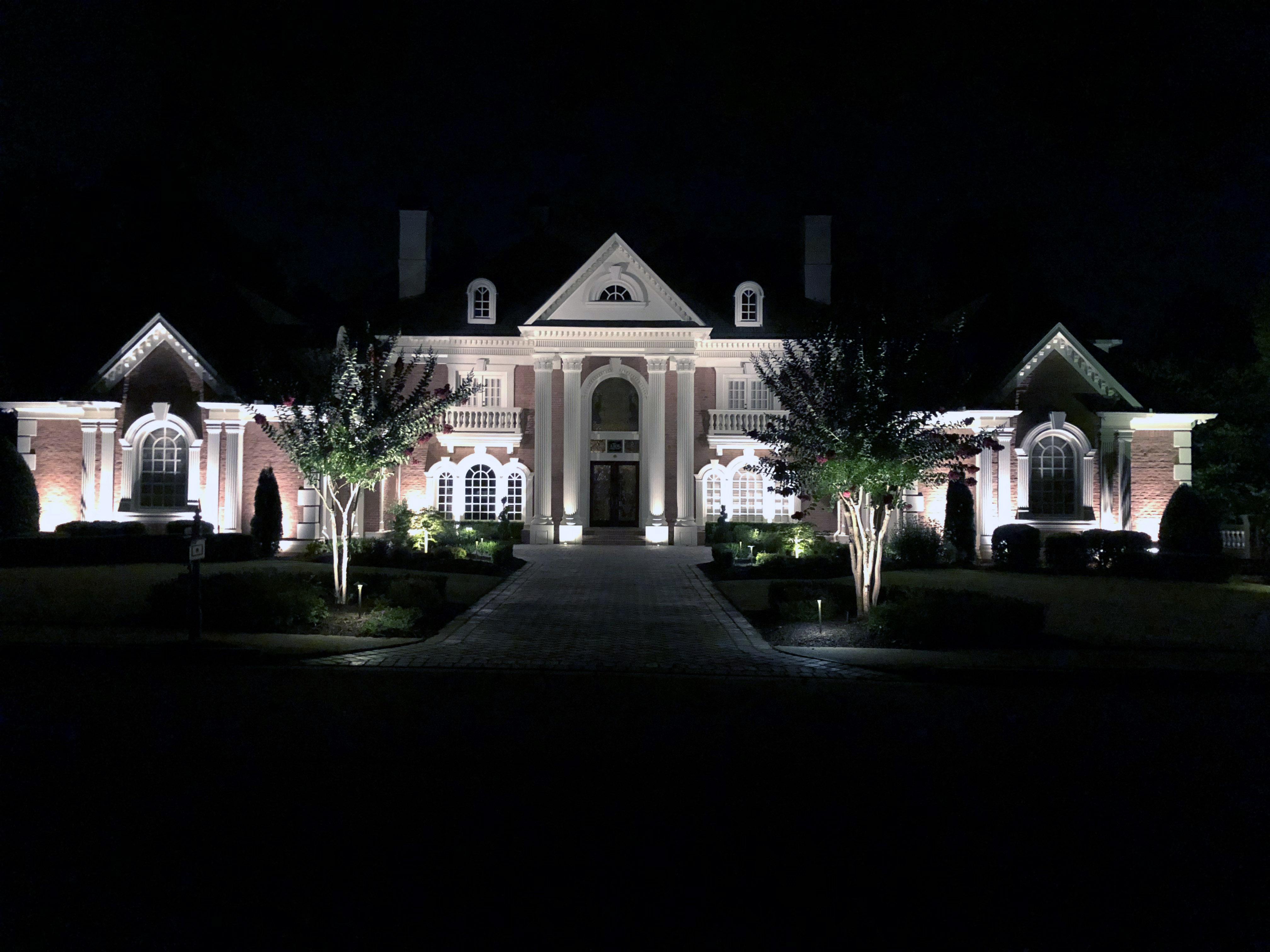 Landscape lighting design gallery atlanta