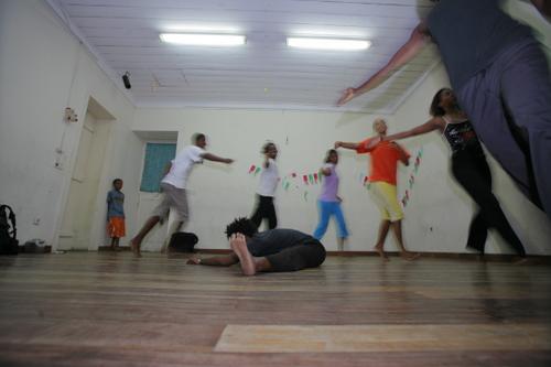 Dansschooltje in Praia