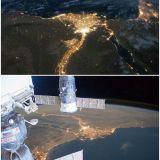 دلتا نهر النيل من الفضاء