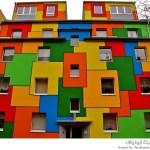 المنازل الملونة