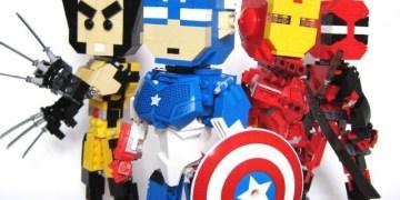 تحويل شخصيات الأبطال الخارقين إلى قطع ليجو