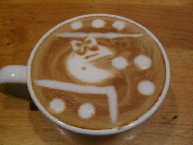 أعمال فنية بالقهوة