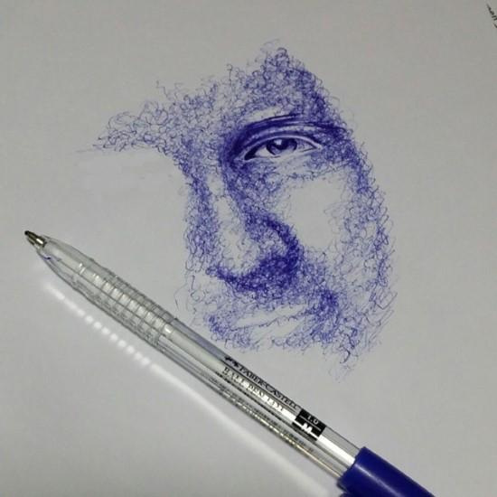 رسم بالقلم الجاف2