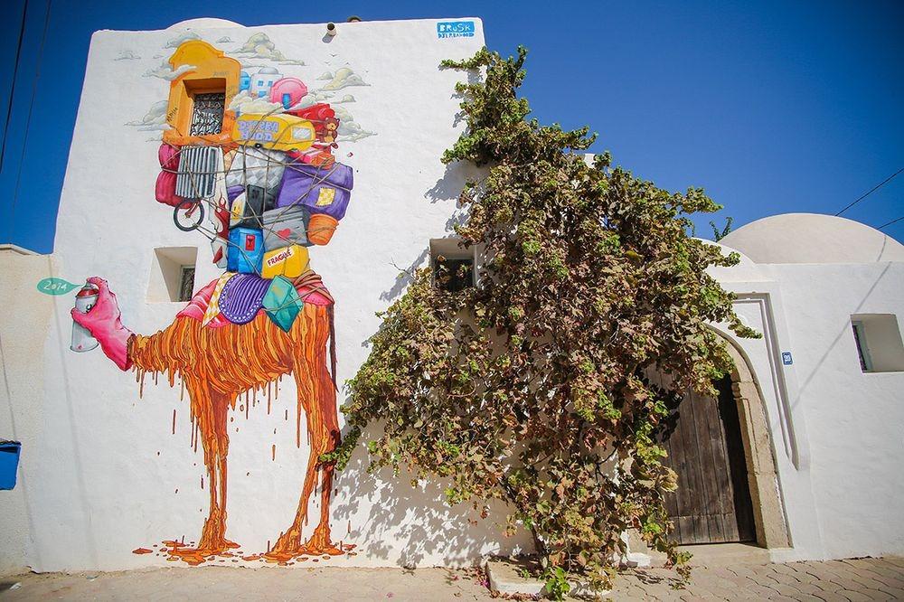 فنان يُحول قرية تونسية