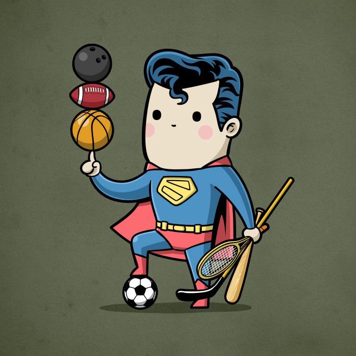 الرياضة والأبطال الخارقين