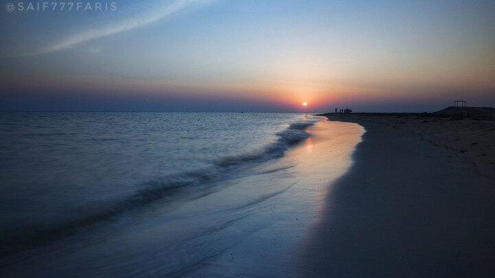 غروب شاطئ المجيرمة