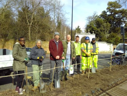 Abundance London Sleeping Beauty Hedge Planting Team