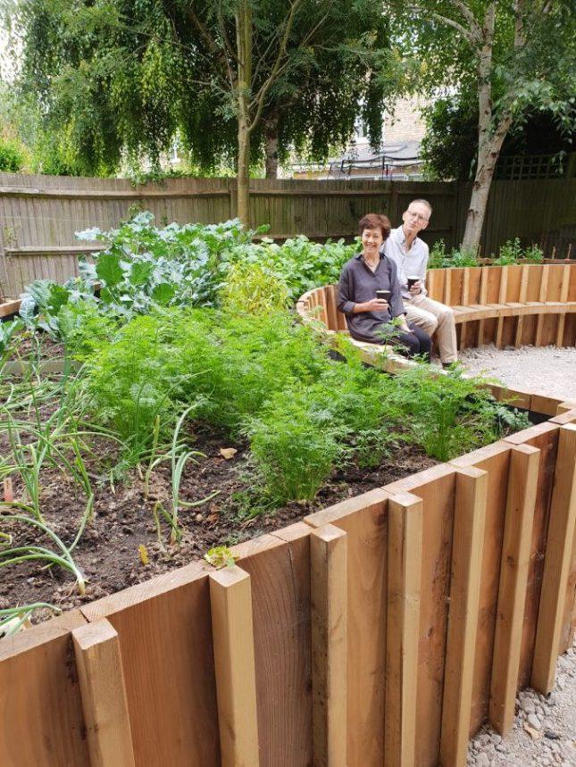 Abundance London Therapeutic Garden Creators Dr Sheila Hunt designer Christopher Richards