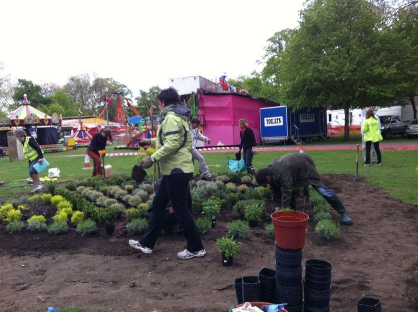 Abundance London preparing knot garden