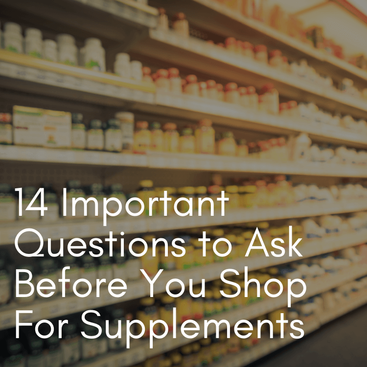 Supplements on a store shelf