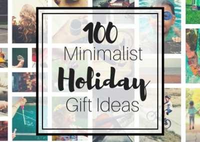 100 minimalist holiday gift ideas