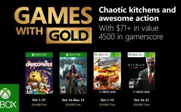 ألعاب إكس بوكس لايف جولد المجانية لشهر أكتوبر 2018