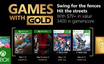 ألعاب إكس بوكس لايف جولد المجانية لشهر مايو 2018