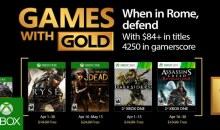 الألعاب المجانية لمشتركي إكس بوكس جولد لشهر أبريل