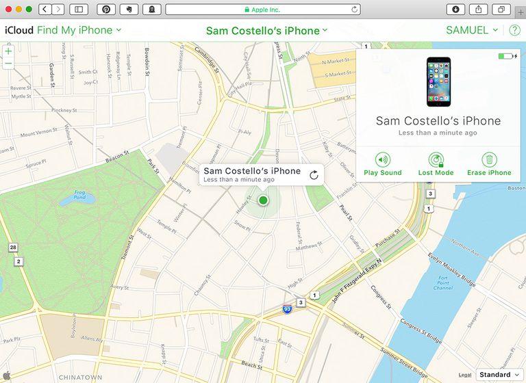 استخدام Find My iPhone