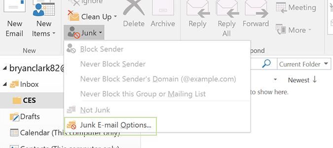 تصفية البريد الالكتروني