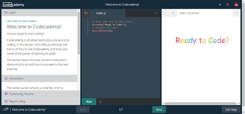 تعلم البرمجة كود أكاديمي codecademy