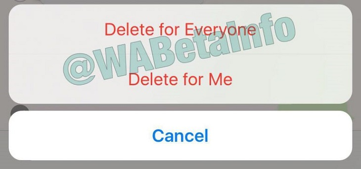 حذف رسائل واتسآب