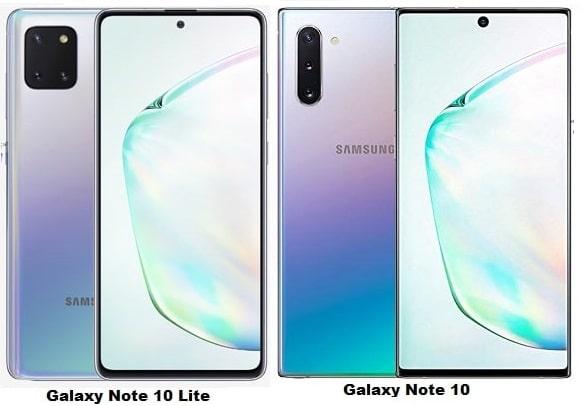مقارنة بين هاتفي Galaxy Note 10 Lite وGalaxy Note 10