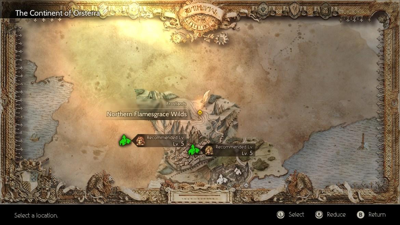 Octopath Traveler World Map