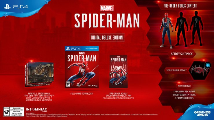 Spider-Man PS4 Deluxe Edition