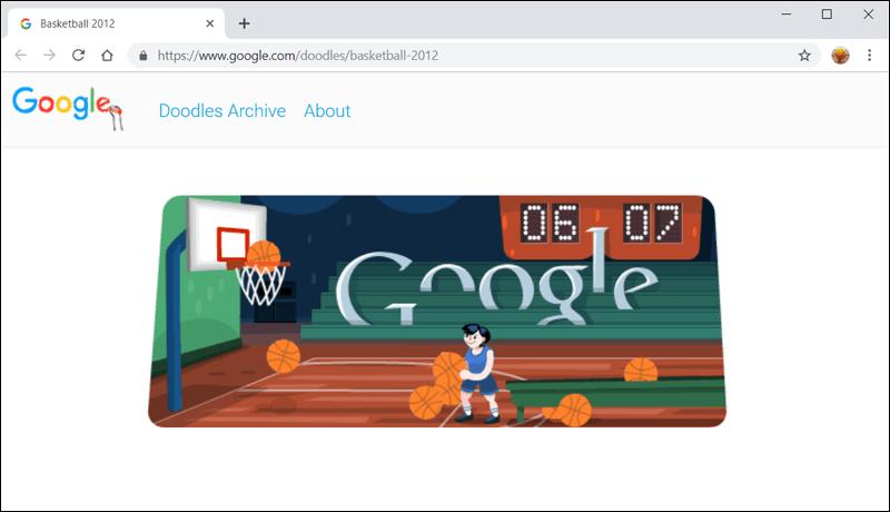 كرة السلة - ألعاب جوجل دودل