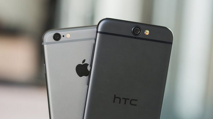 HTC One A9 vs iPhone 6
