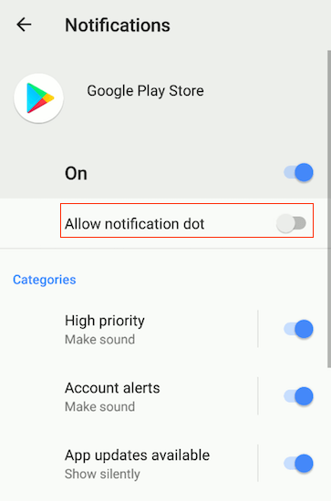 Notification Dots Android Oreo