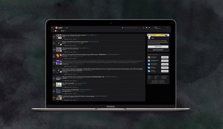 Reddit Night Mode desktop