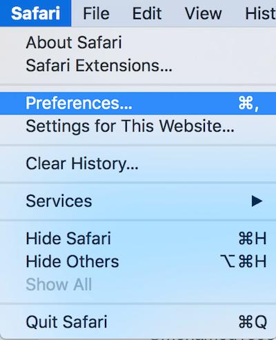Safari 11 Preferences