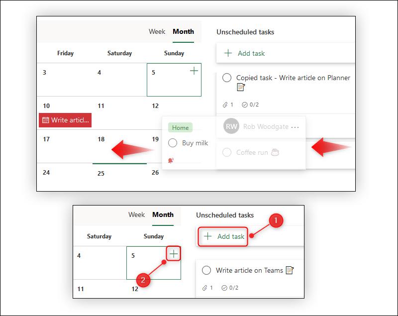 ونصائح لاستخدام تطبيق Microsoft Planner Schedule-a-task.png?