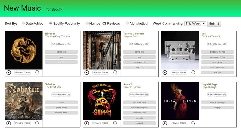 موقع Spotify New Music