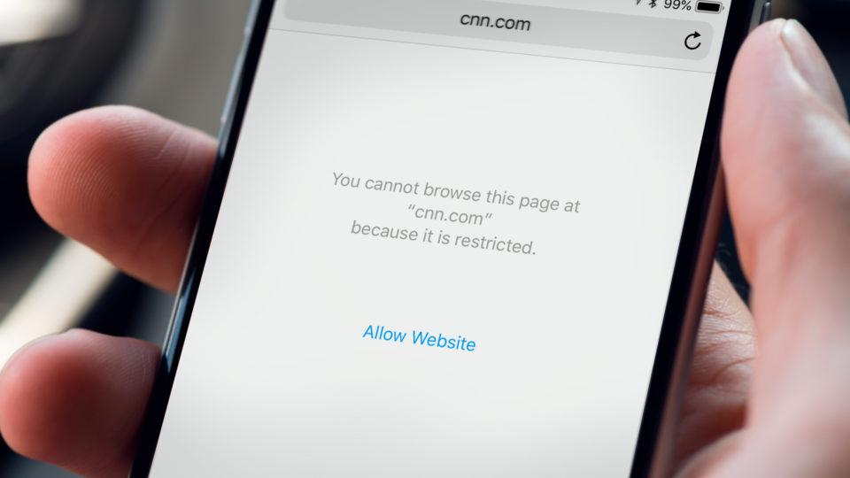 شرح حجب المواقع على الآيفون والآيباد بعد تحديث iOS 12