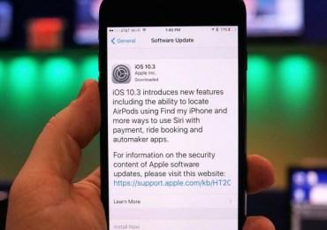 iOS 10.3 update