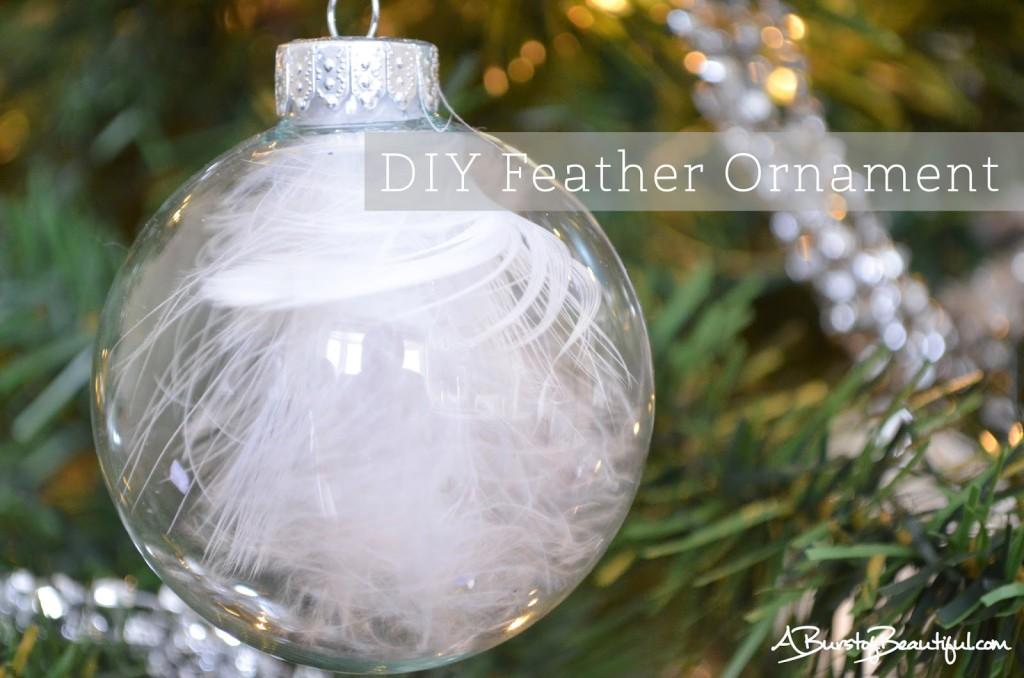 Easy DIY Christmas Ornaments  A Burst of Beautiful