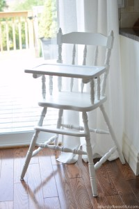 Painted Vintage Highchair - A Burst of Beautiful